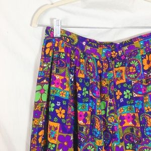 Vintage Skirts - Vintage 1960s Colorful Maxi Skirt